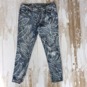 Distressed paisley jeans from American Eagle